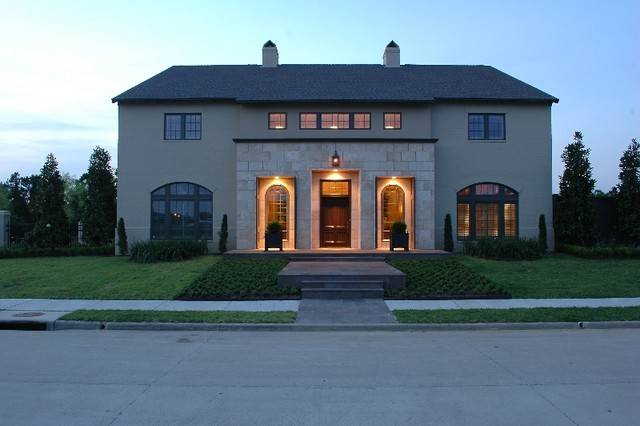 Continental Custom Home Front Elevation Modern Exterior