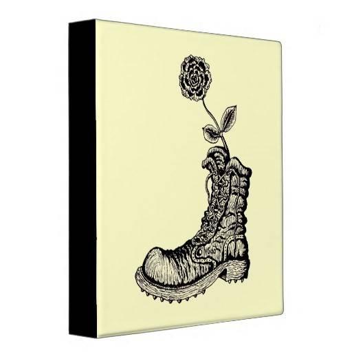 Cool Boot Flower Binder Design Zazzle