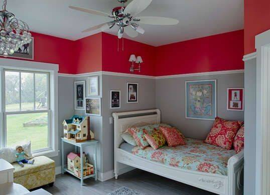 Cool Colors Kids Rooms Paint Two Red Bedrooms