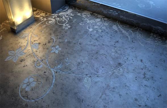 Cool Concrete Flooring Art Interior Design New Furnitures