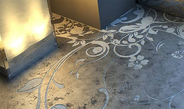 Cool Concrete Flooring Art Interior Design New Furnitures