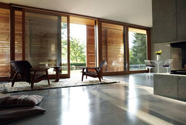 Cool Concrete Interior Living Room
