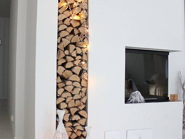 Cool Firewood Storage Designs Contemporary Homes Small House