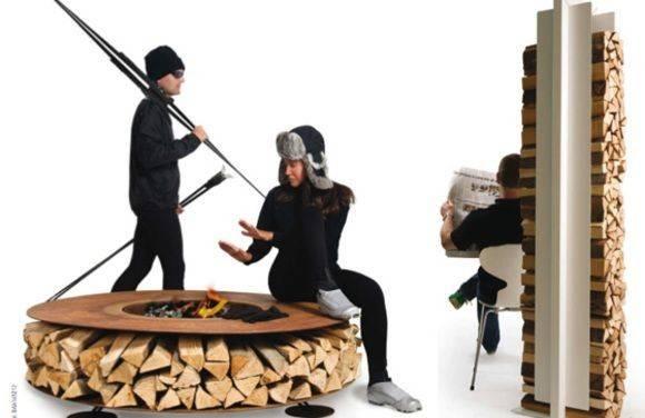 Cool Firewood Storage Idea