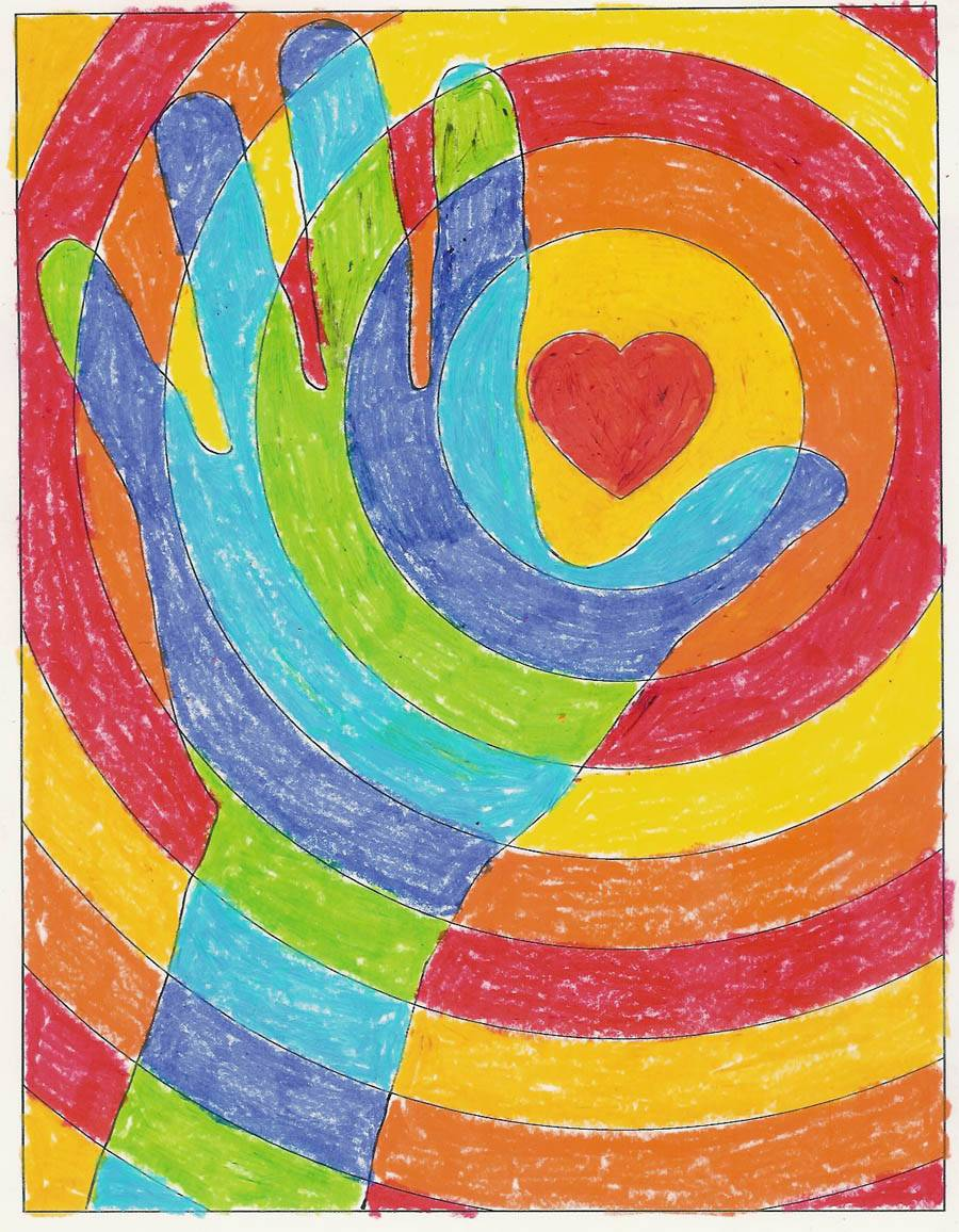 Cool Hands Warm Heart Art Projects Kids