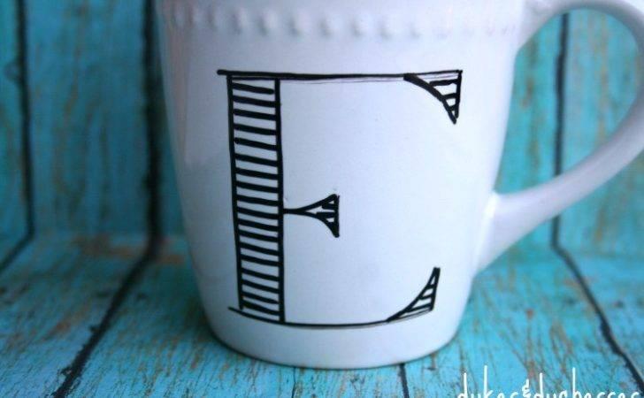 Cool Mug Designs Diy Anthropologie Inspired Monogrammed Mugs
