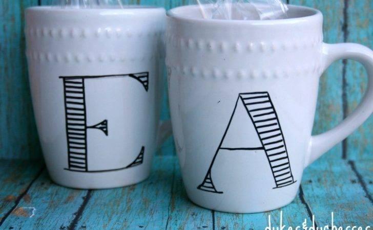 Cool Mug Designs Diy Monogrammed Mugs