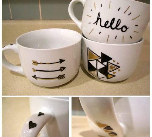 Cool Mug Designs Diy Step Place Finished Mugs