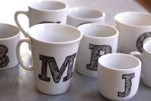 Cool Mug Painting Designs Diy Monogram Mugs