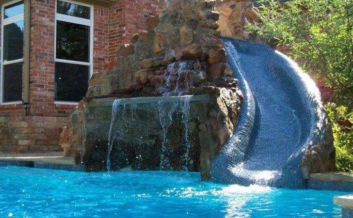Cool Swimming Pools Slides Excellent Mini Pool Designs