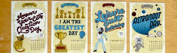 Cool Unique Calendar Designs Creative Cancreative Can