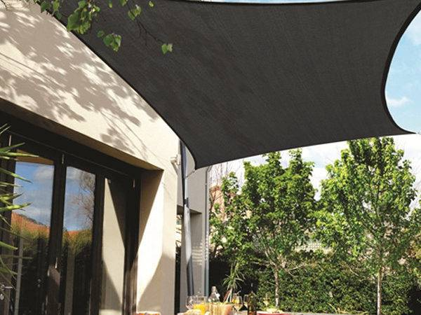 Coolaroo Extreme Shade Sail Square Charcoal Blinds Direct