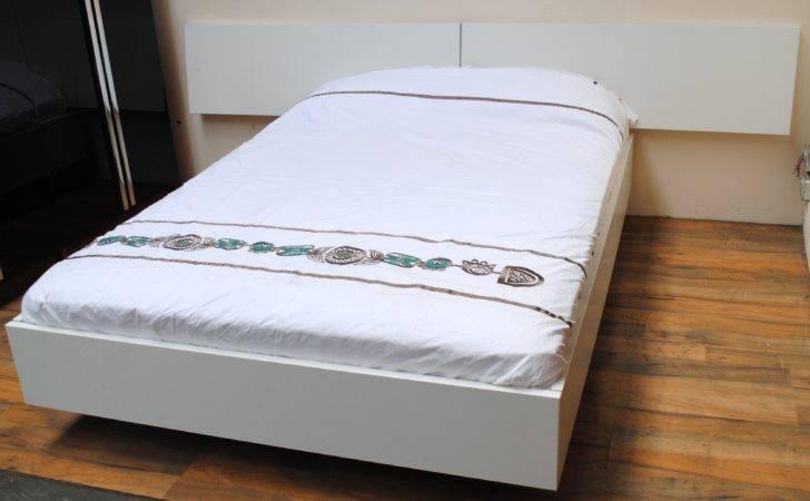Copenhagen Double Floating Bedstead Headboard White