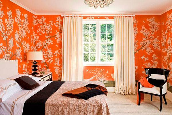 Coral Modern Bedroom Orange Traditional Yellow