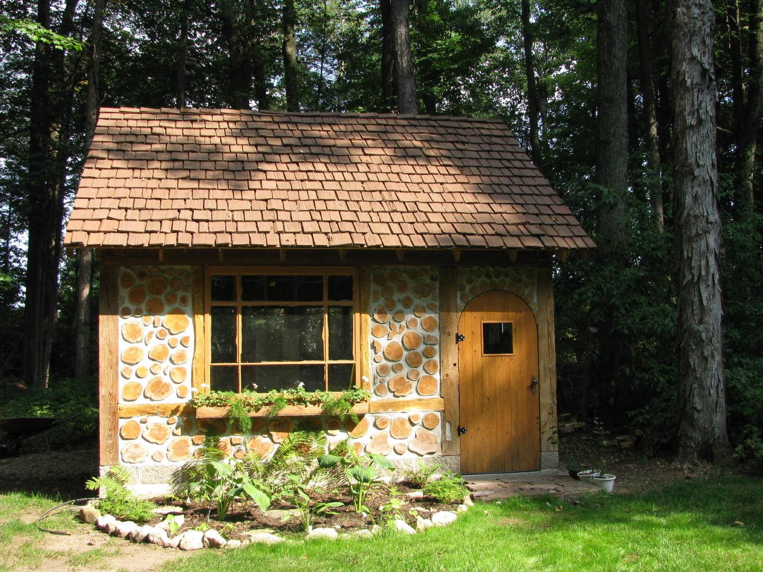 Cordwood Cottage Garden Shed Green Bay Wisconsin