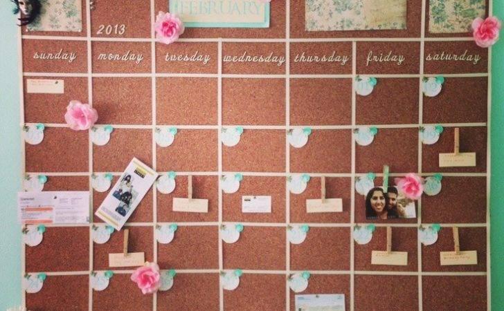 Cork Board Wall Calendar Pin Your Bills Tickets More Need