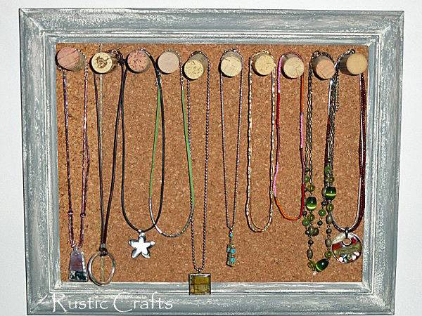 Cork Board Wine Corks Diy Jewelry Holder Craft Idea Rustic Crafts