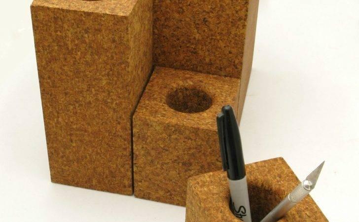 Cork Pen Holder Vaseface Daniel Michalik Furniture Design