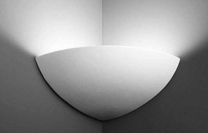 Corner Ceramic Wall Light Uplighter