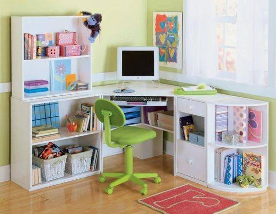 Corner Desk Kids Room Children Small