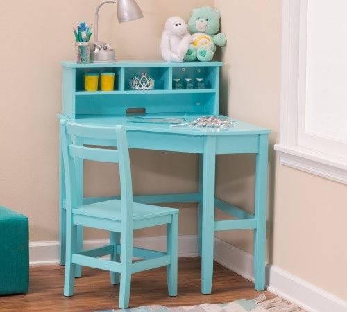 Corner Desk Reversible Hutch Chair Teal Kids Desks