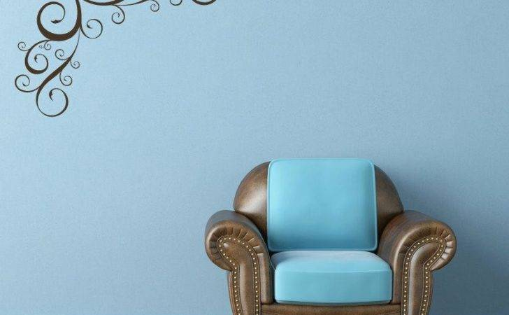 Corner Swirl Flourish Vinyl Wall Art Decal Addoway