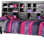 Cottage Colors Black Bookcase Wall Bed Beds Furniture