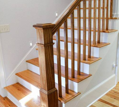 Cottage Shutter Staircase Design Ideas Renovations Photos