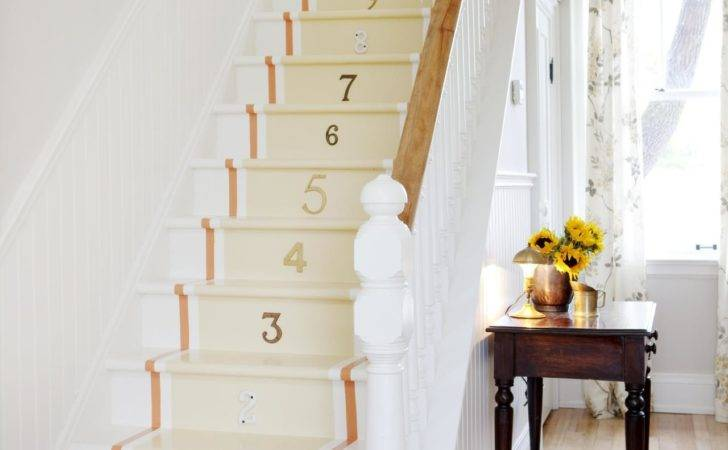 Cottage Style Stairs Shabby Chic Take Painted Stair