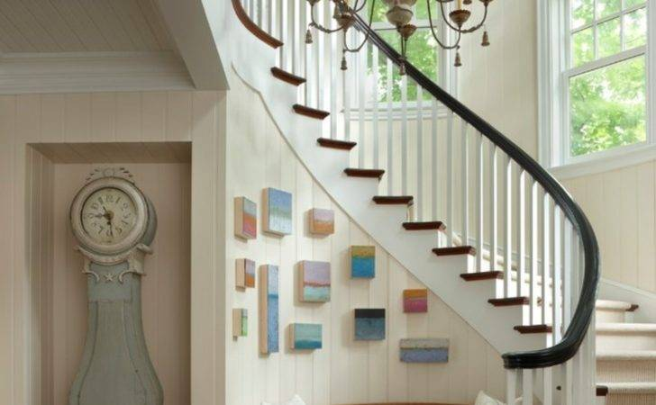 Cottage Traditional Staircase Inspire Design Idea Decosee