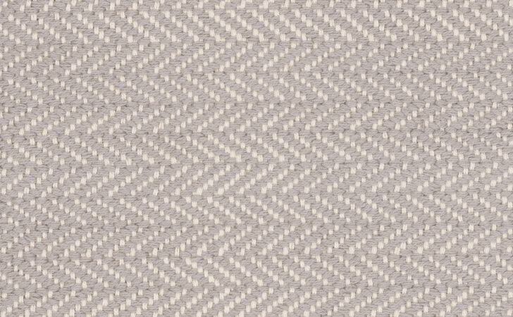 Cotton Herringbone Rug Dove Grey Dash Albert