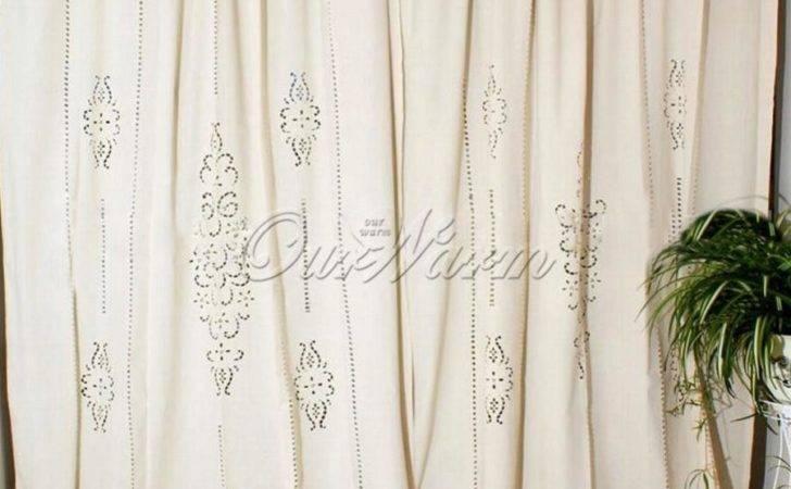 Cotton Linen Modern Curtains Living Room Tab Top