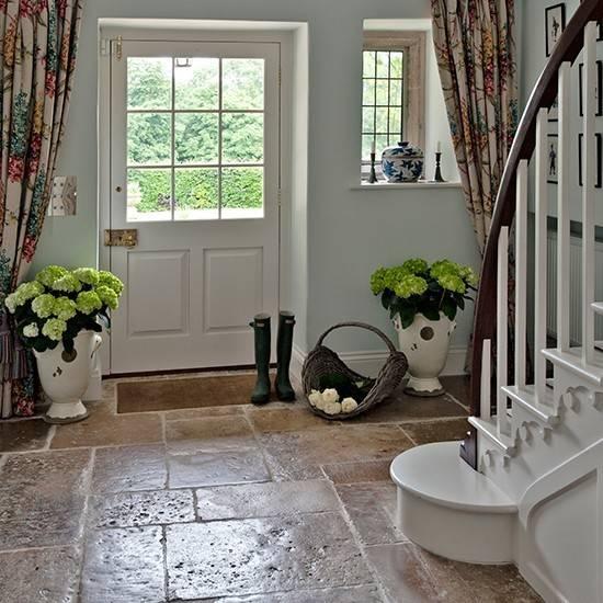 Country Hallway Flagstone Floor Flooring Ideas