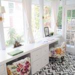 Cow Spot Sunroom Turned Home Office Reveal