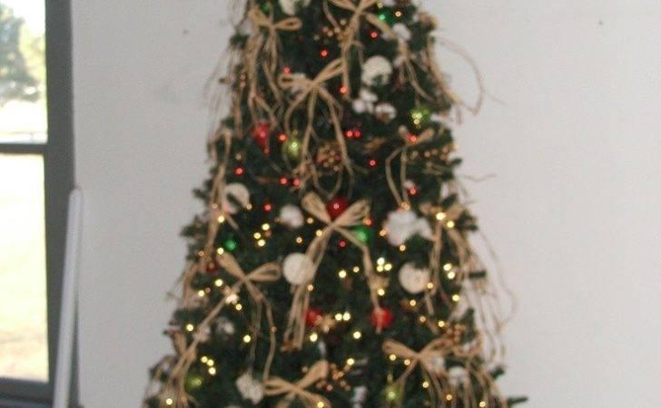 Cowboy Christmas Tree Decorated Raffia Bows