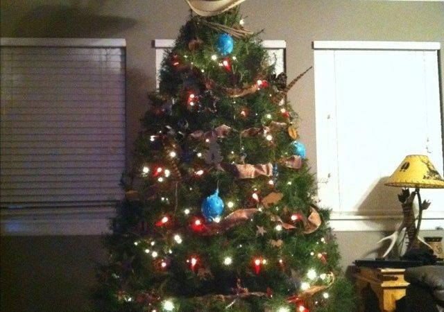 Cowboy Christmas Tree Time City Pintere
