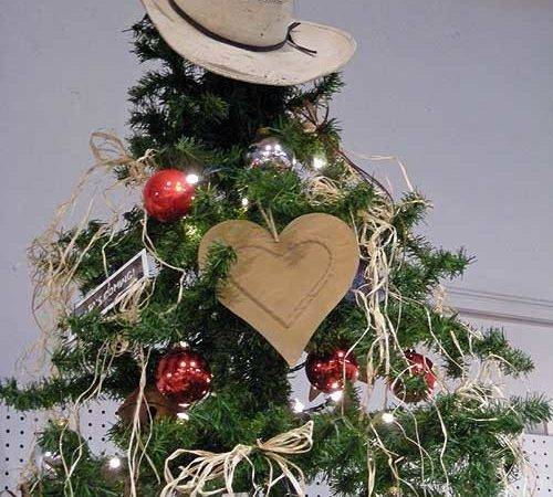 Cowboy Christmas Tree Topped