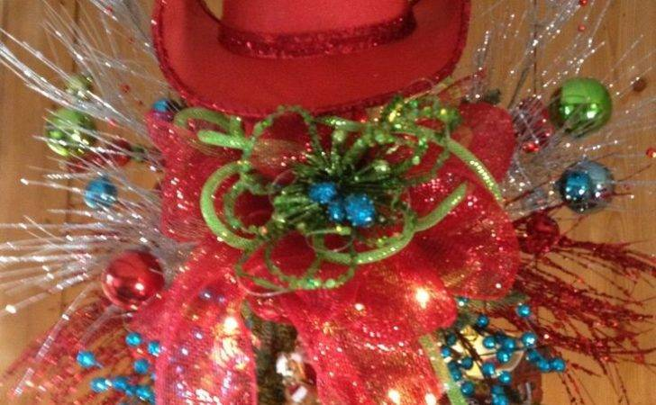 Cowboy Christmas Tree Topper Holiday Trees Pinterest