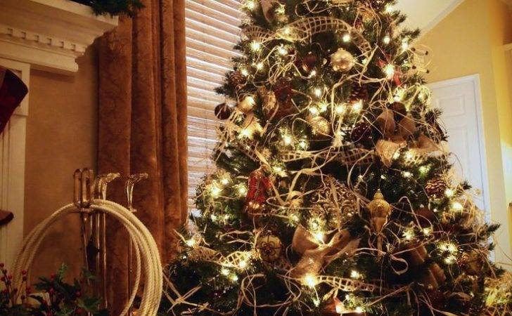 Cowboy Christmas Western Decorations Rope Tree