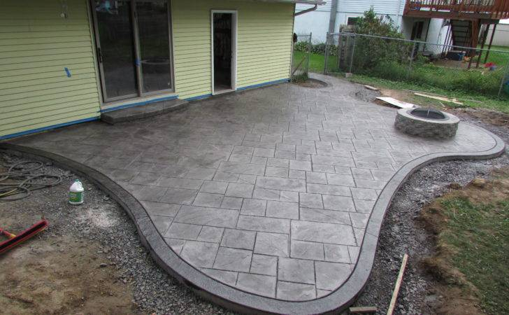 Cozy Look Stamped Concrete Patio Pattern Colors Option