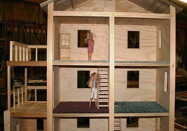Craft Barbie House Diy Dollhouse Ideas Doll Houses