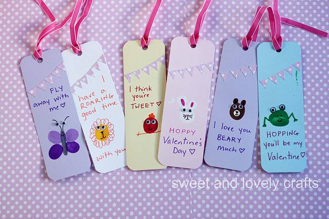 Crafts Life Diy Valentine Projects Thumbprint Bookmarks