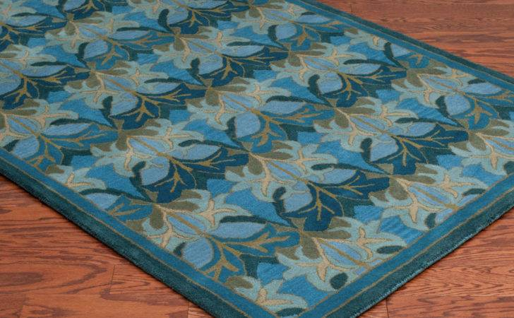 Crafts Mission Style Wool Traditional Craftsman Blue Decor Area Rug