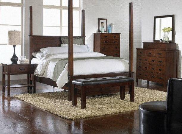 Craftsman Bedroom Set Cal King Mission Style Canopy Poster