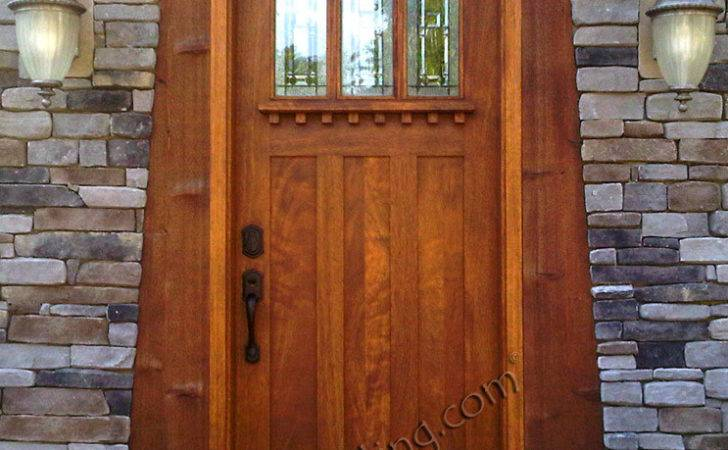 Craftsman Style Doors Solid Mahogany Single