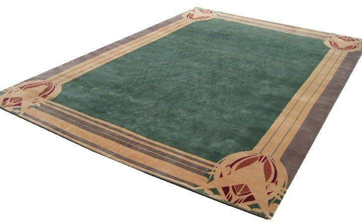 Craftsman Style Prairie School Hand Knotted Area Rug Knot