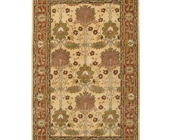 Craftsman Style Rug Arts Crafts Mission Coral Wool Area