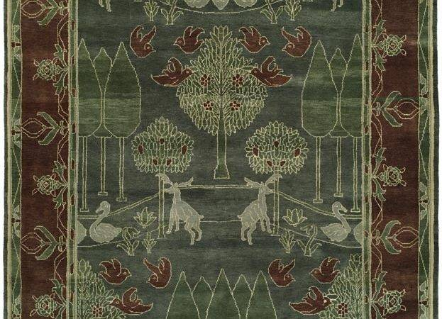 Craftsman Style Rug Teal Green Riverwild Persian Oriental Area