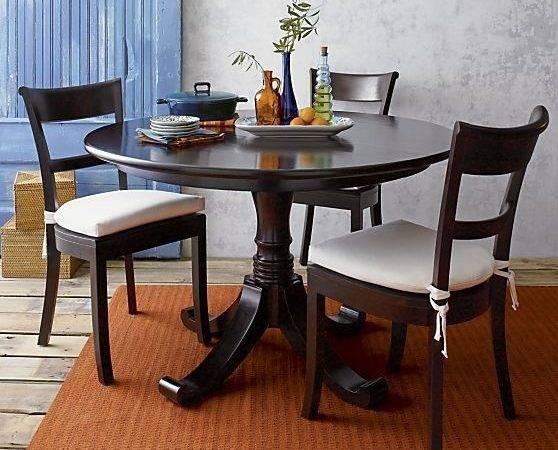 Crate Barrel Kipling Pedestal Extension Dining Table
