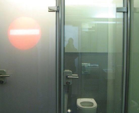 Crazy Glass Toilet Door Cafe Vienna Austria